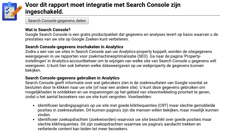 Google Analytics met Google Search Console koppelen
